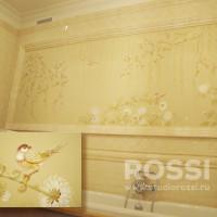 роспись стен в ванной комнате