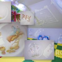 роспись стен в детской игровой комнате ресторан тесто в вешках.