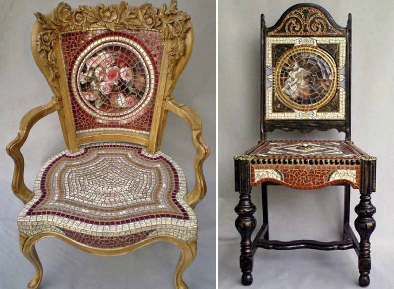 стулья мозаика декор