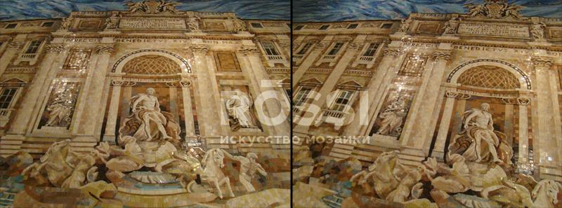 Фонтан мозаика архитектура росси