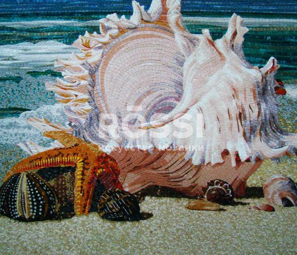 ракушка морская мозаика