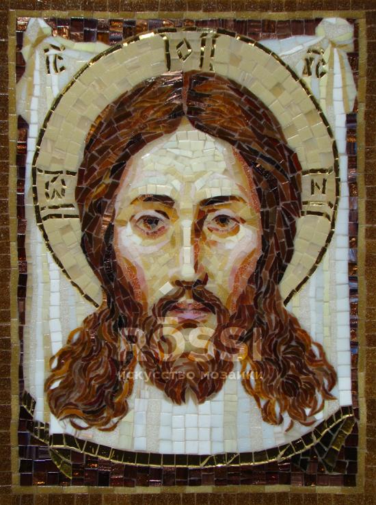 мозаика икона спаситель