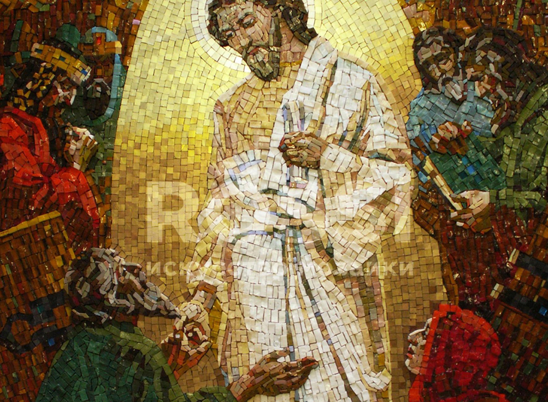 икона мозаика фрагмент