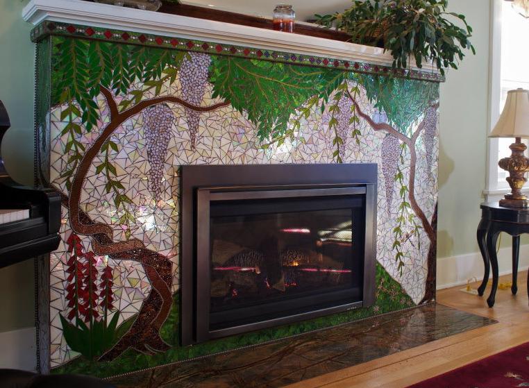 fireplace камин мозаика
