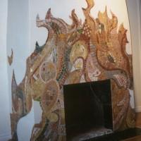 камин мозаика