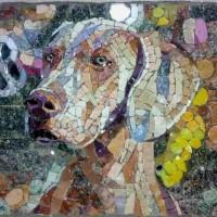 собака мозаика
