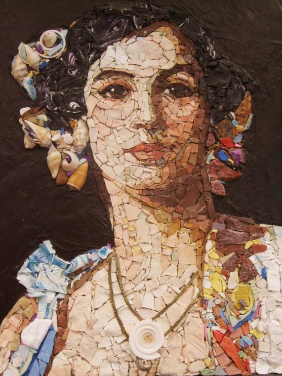 портрет мозаика