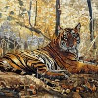 мозаика животные собака кот