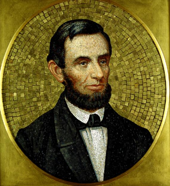 Antonio-Salviati-mosaic-of-Abraham-Lincoln-the-highboy